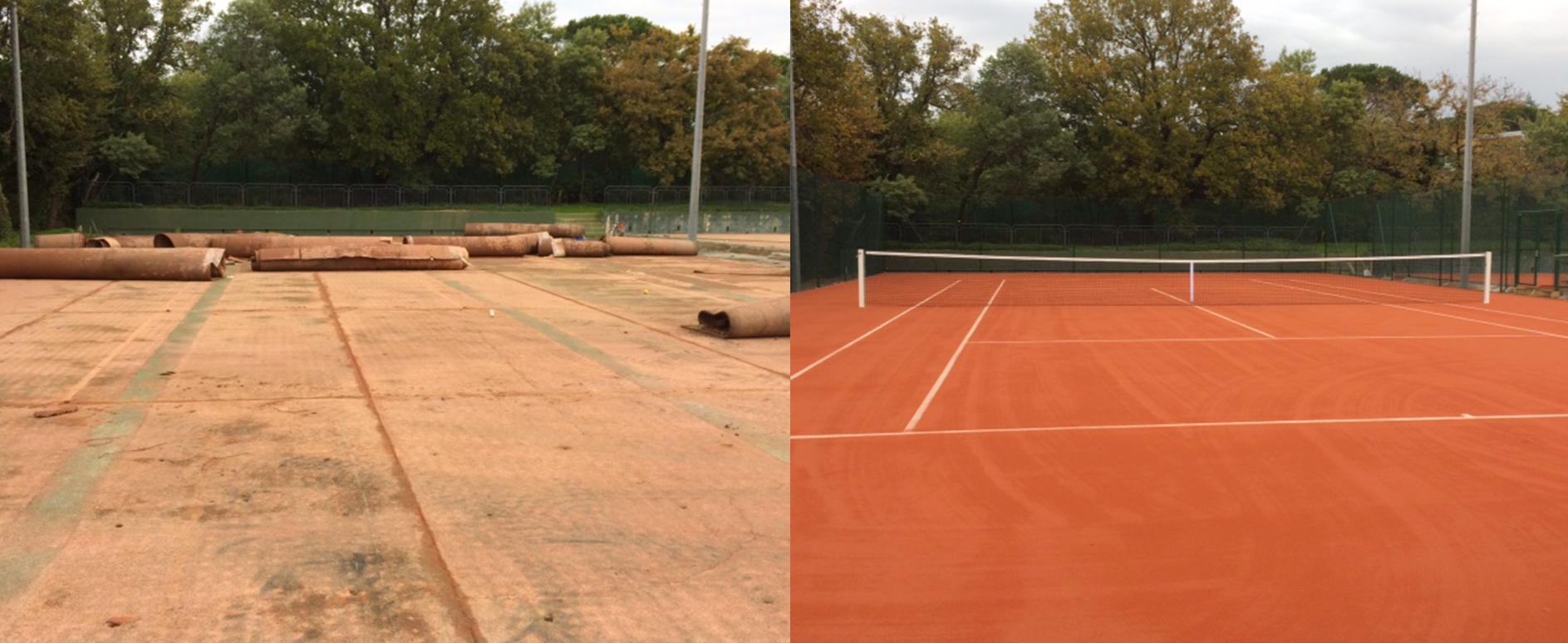 our works tennis du midi. Black Bedroom Furniture Sets. Home Design Ideas