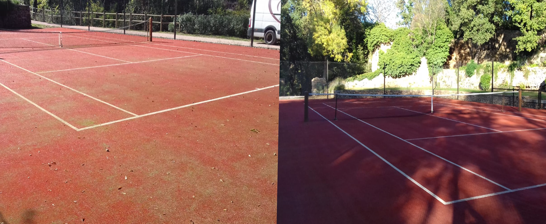 maintenance of a tennis court in synthetic clayentretien tennis du midi. Black Bedroom Furniture Sets. Home Design Ideas